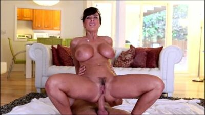 Huge Tittied Milf Exercises On A Guy's Pole