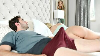 Horny Step Mom Helps Her Son Deal With Morning Wood Beside Sleeping Daughter