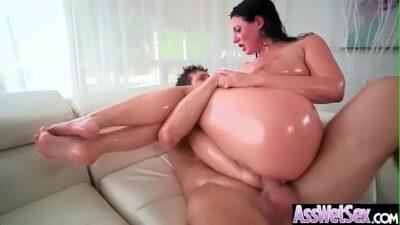 Hard Analy Banged On Cam A Sluty Big Round Ass Girl (Angela White) video-07