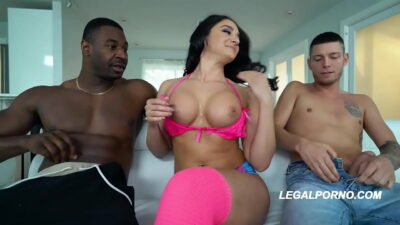 Interracial DAP to the XXXtreme with Sheena Ryder fucked till anal creampie