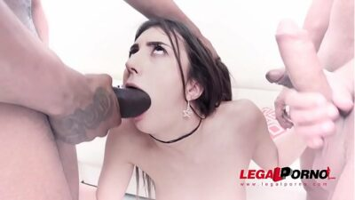 Lina Luxa first DAP with Gonzo monster cock team SZ2125