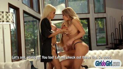 Luna Star makes Adriana Sephora n Kat Dior lick pussy n ass
