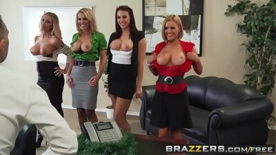 Brazzers – Big Tits at Work – Office 4-Play Christmas Edition scene starring Chanel Preston Krissy L