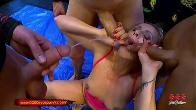 Fisting and Squirting in a Pissing Gangbang For MILF Brittany Bardot