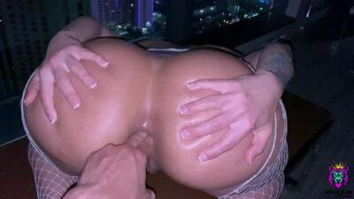 Big Ass Brunette gets a Rough Anal Fuck in Las Vegas PH