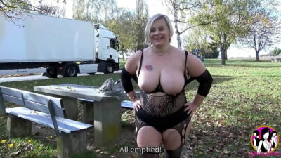 Chubby big tits milf Morgane sucks and fucks truck drivers in rest areas then fucked in the ass