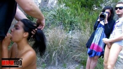 Hot metis girl gets her first painly double penetration
