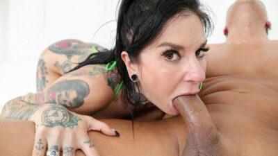Tattooed busty anal MILF Joanna Angel